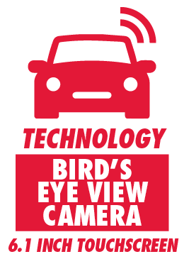 Bird's Eye View Camera and 6.1 Inch Touchscreen