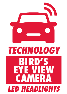 Bird's Eye View Camera and LED Headlights