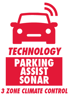 Parking Assist Sonar and 3 Zone Climate Control