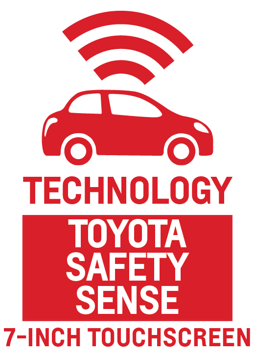 Toyota Safety Sense and 7-Inch Touchscreen