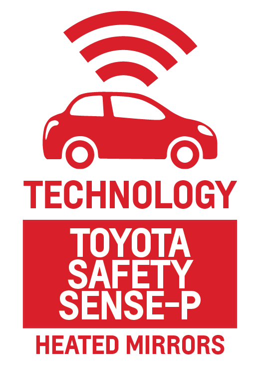 Toyota Safety Sense-P and Heated Mirrors